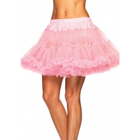 Luxe petticoat voor dames licht roze