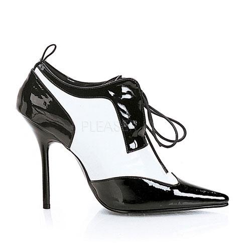 Maffia pumps zwart met wit