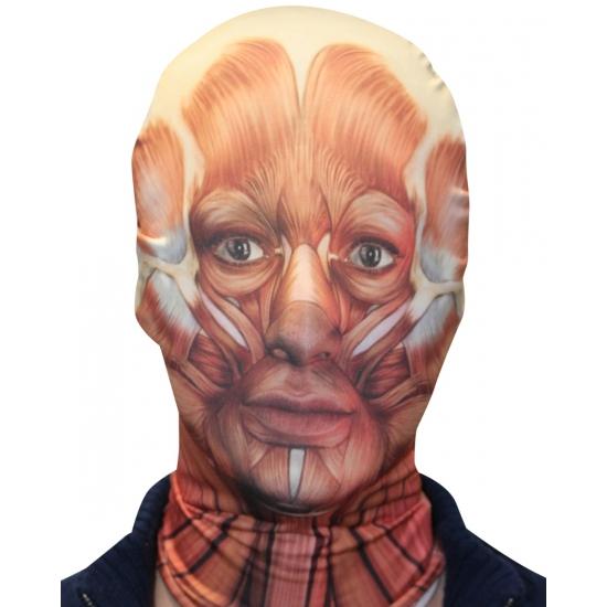 Masker met opengelegde spieren