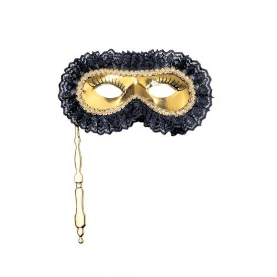Masker op een stokje goud
