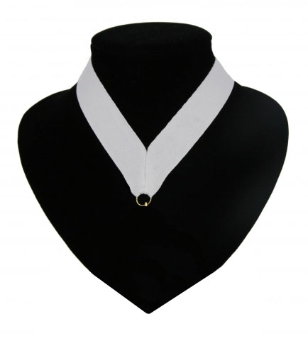 Medaille lint licht wit