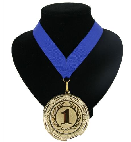 Medaille nr. 1 halslint blauw