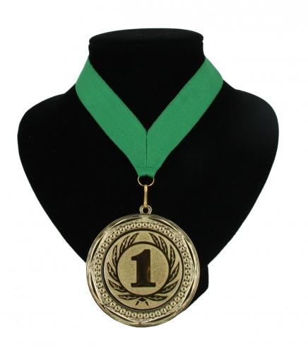 Medaille nr. 1 halslint groen