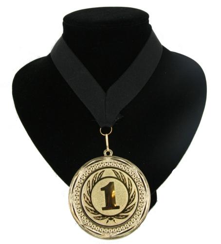 Medaille nr. 1 halslint zwart