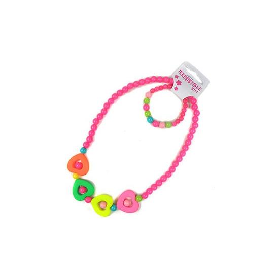 Meisjes sieraden gekleurde hart kralen