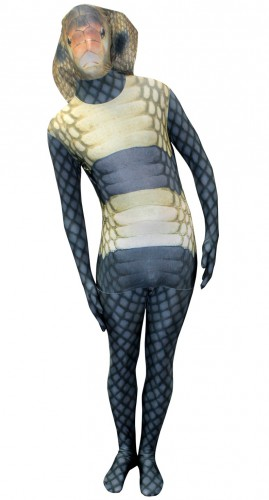 Morphsuit met slangen opdruk