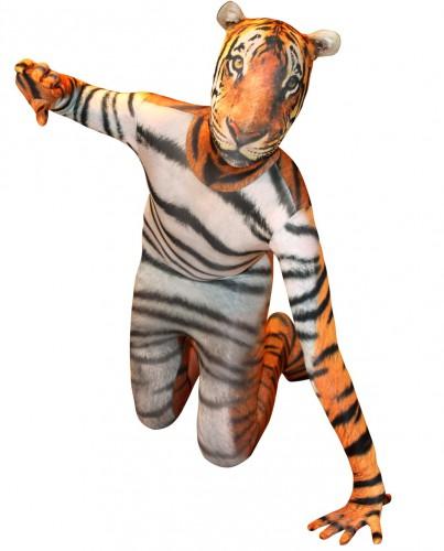 Morphsuit met tijger opdruk voor kinderen