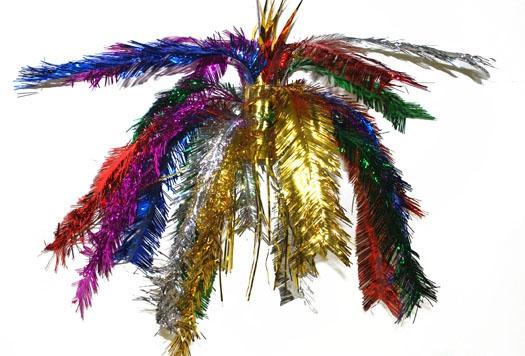 Multi color glitter hanger 60 cm