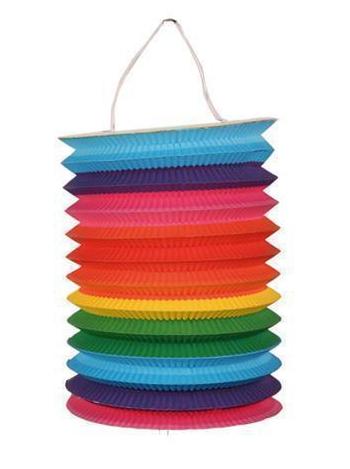 Multi color lampion 15 cm
