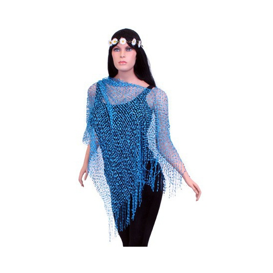 Multifunctionele poncho blauw