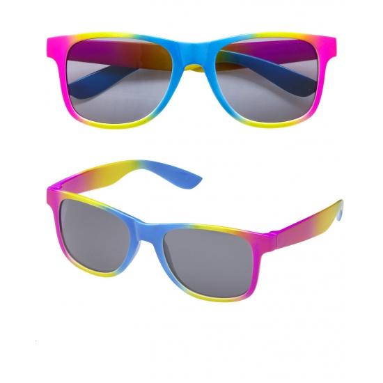 Multikleuren zonnebril regenboog