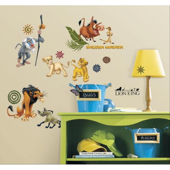 Muurdecoratie stickers Lion King
