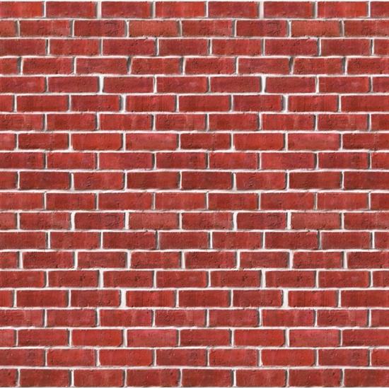 Muurposter bakstenen muur 9 meter