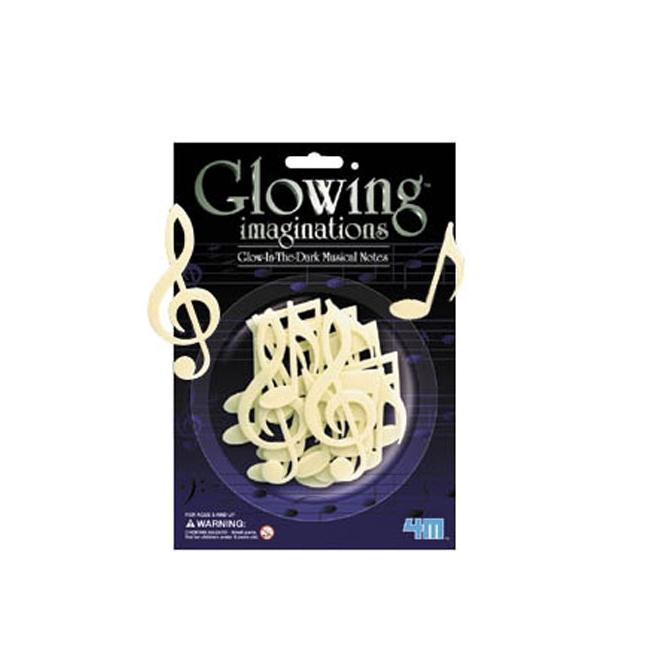 Muziek glow in the dark 16 stuks