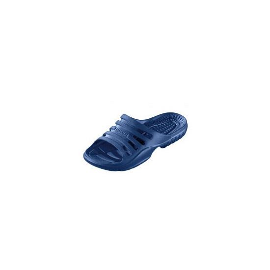 Navy gekleurde zwembad sandalen voor heren