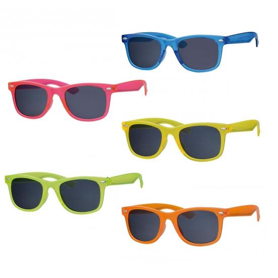Neon gekleurde zonnebril voor kids