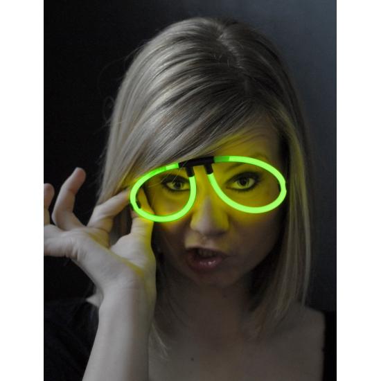 Neon glow bril groen