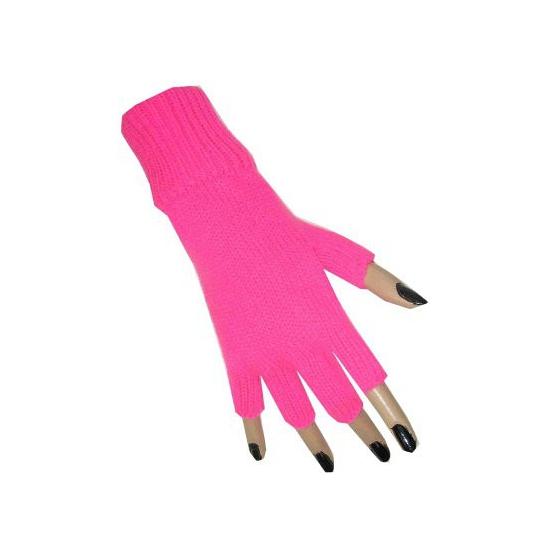 Neon roze handschoenen