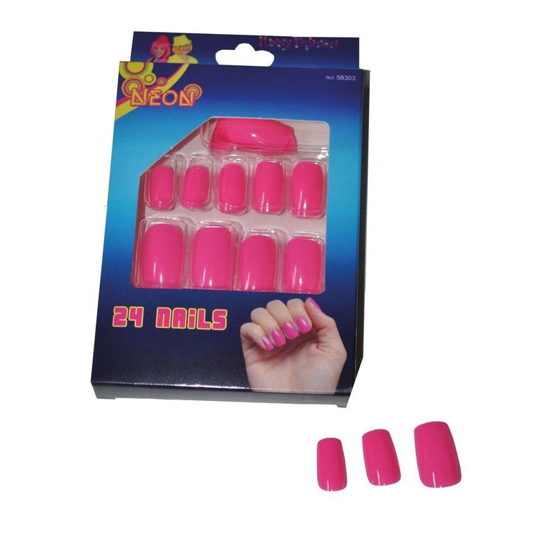 Nepnagels in het neon roze