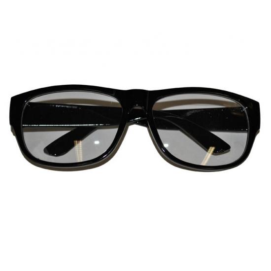 Nerd bril met zwart montuur