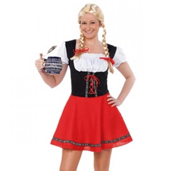 Oktoberfest jurkje zwart met rood