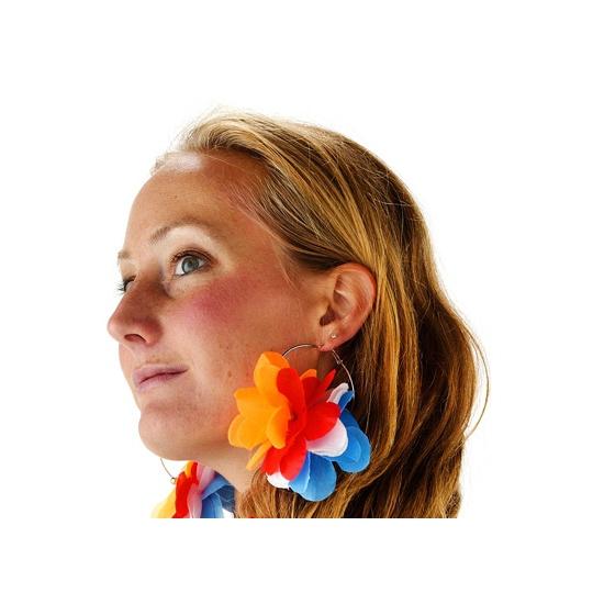 Oorbellen in Nederlandse kleuren