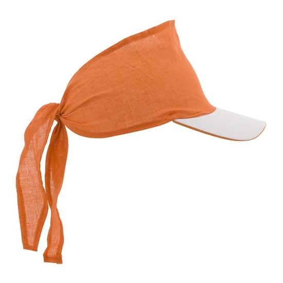 Oranje bandana zonnekleppen
