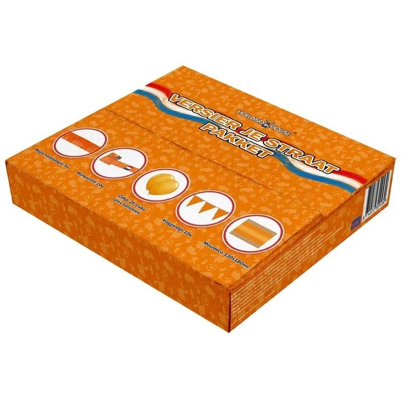 Oranje decoratiebox voor de straat