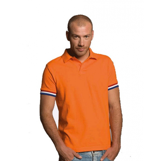 Oranje fan polo t shirt