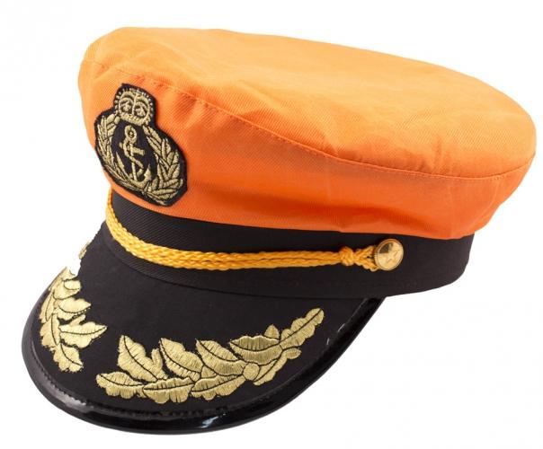 Oranje feesthoed kapitein