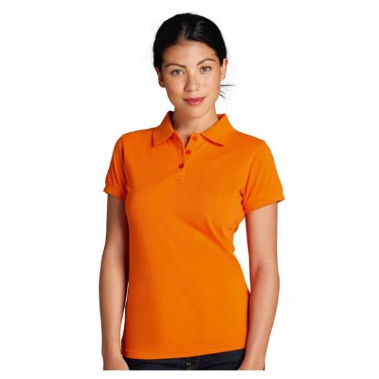 Oranje getailleerde poloshirts
