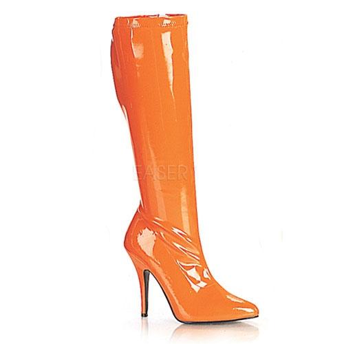 Oranje gogo laarzen met hak