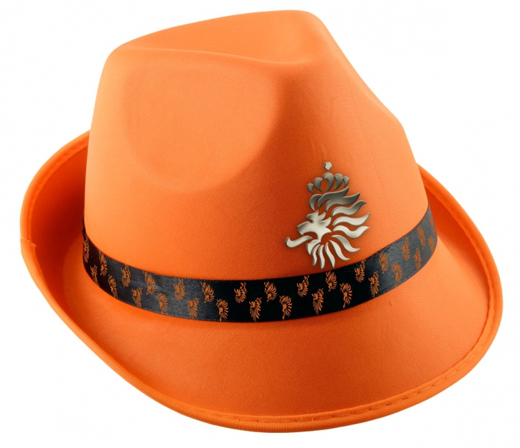 Oranje hoed met het KNVB logo