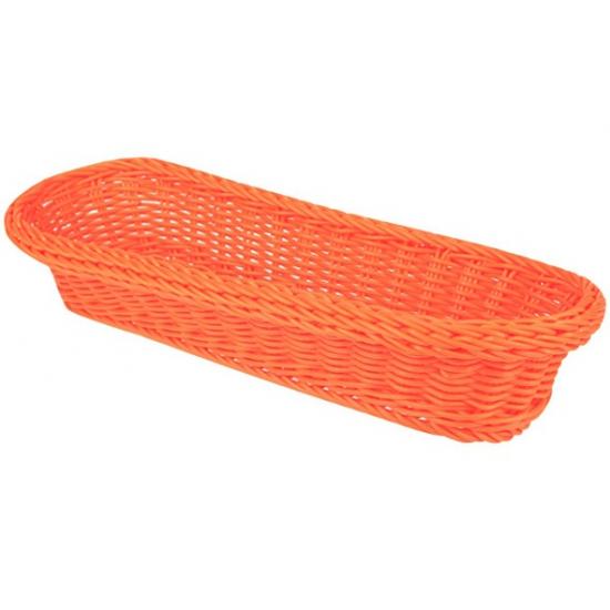 Oranje opberg mandje 37 5 cm