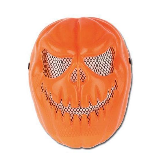 Oranje plastic masker pompoen