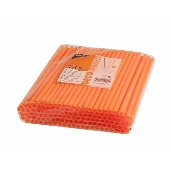 Oranje shake rietjes 135 stuks