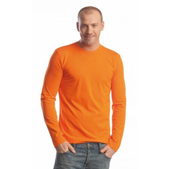 Oranje shirt met lange mouw