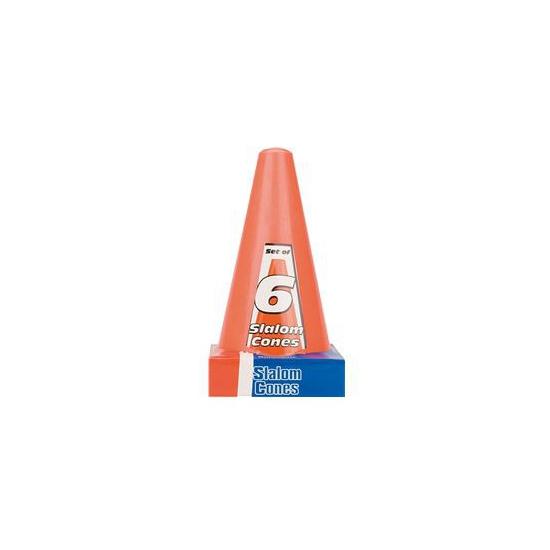Oranje speelgoedpionnen 6 stuks