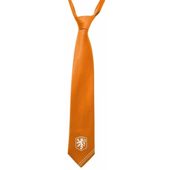 Oranje stropdas met KNVB logo