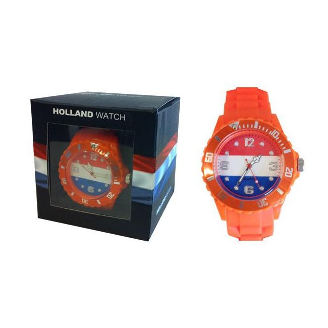 Oranje supporters horloge voor dames en kids