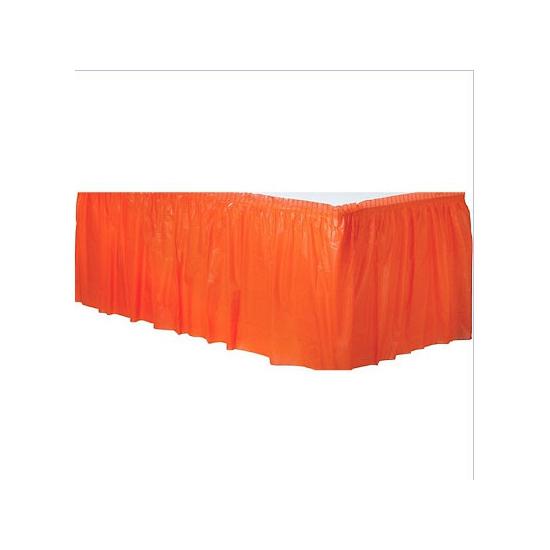 Oranje tafel randen
