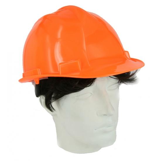 Oranje veiligheidshelm