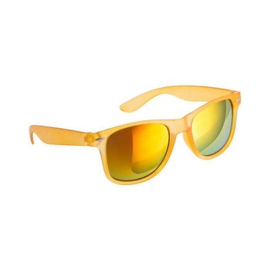 Oranje zonnebril met spiegelglas
