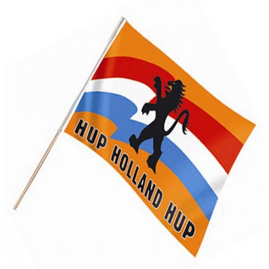 Oranje zwaaivlag Hup Holland