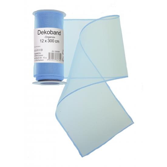 Organza rol lichtblauw 12 x 300 cm