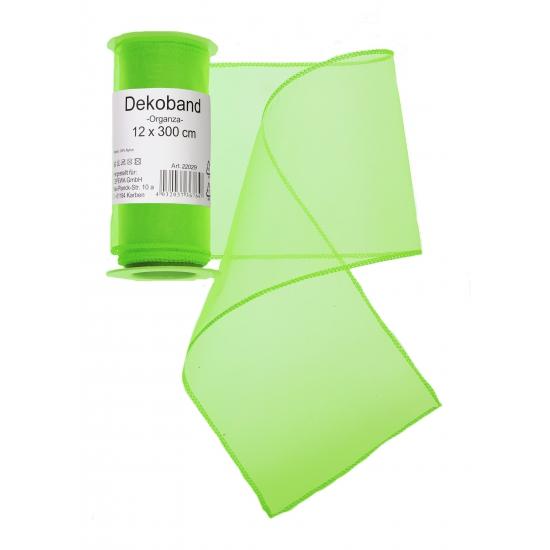 Organza rol neon groen 12 x 300 cm