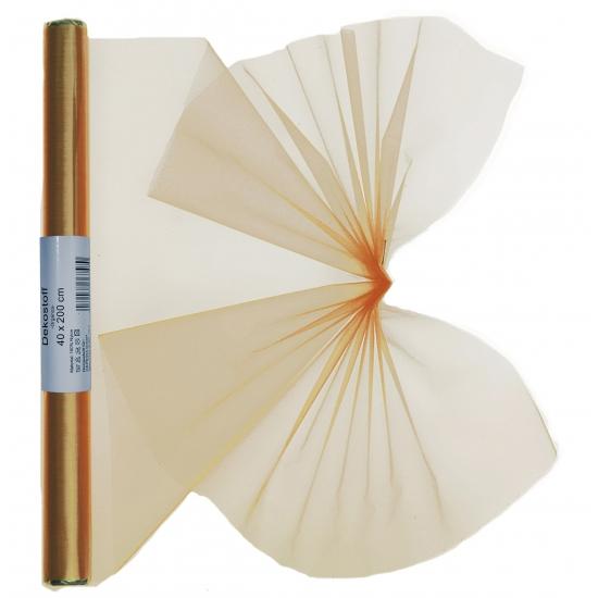 Organza strook goud 40 x 200 cm