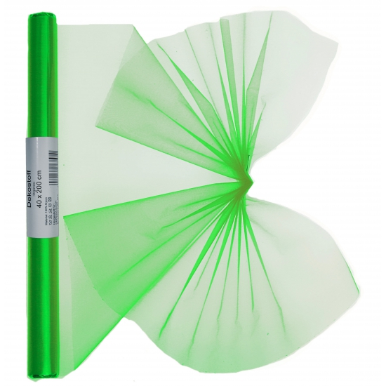 Organza strook groen 40 x 200 cm