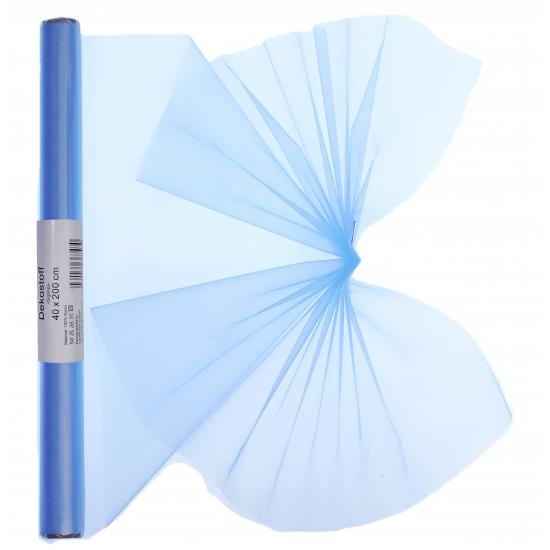 Organza strook lichtblauw 40 x 200 cm