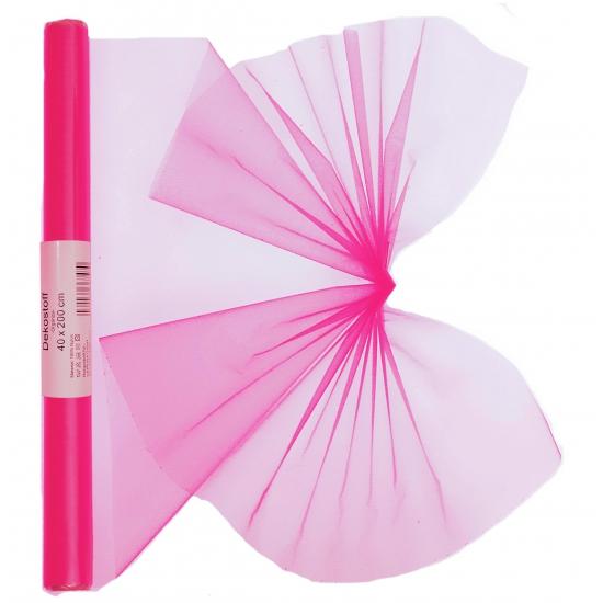 Organza strook neon roze 40 x 200 cm